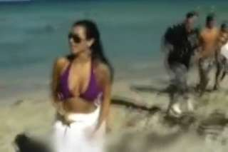 Kim Kardashian on Miami beach